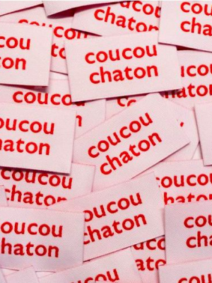 IKATEE : Étiquettes «COUCOU CHATON»